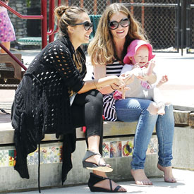 Pictures of Jessica Alba With Eric Dane at Park
