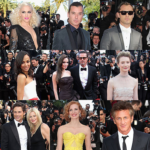 Brad Pitt et Angelina Jolie Pictures a la projection de The Tree of Life a Cannes