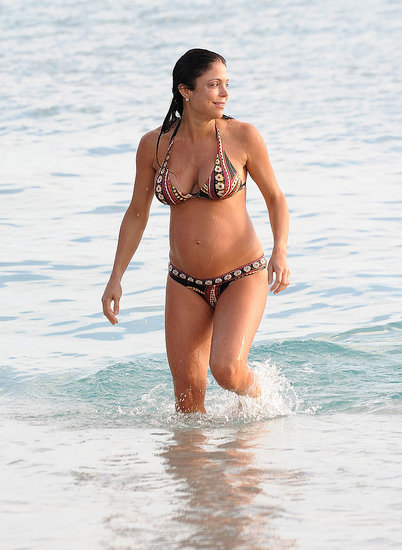 Bethenny Frankel donned a two-piece bathing suit during her honeymoon in St. Barts.