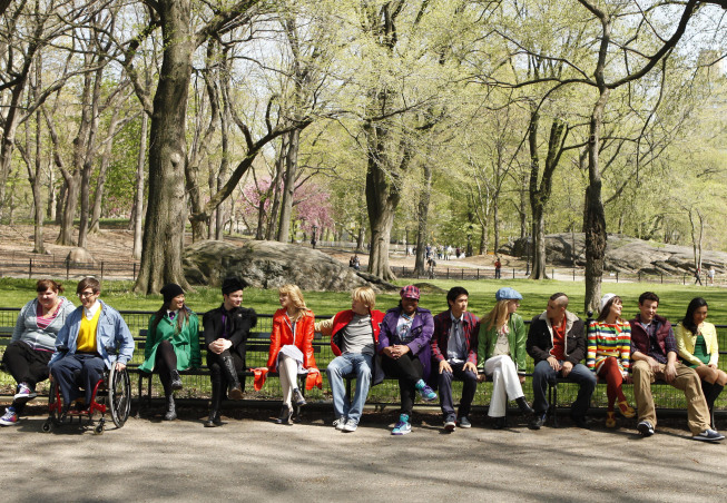 Exploring all that Central Park has to offer (like ample bench seating).