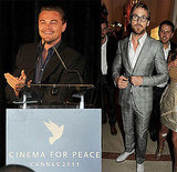 Leonardo DiCaprio and Ryan Gosling Attend Cinema For Peace Celebration in Cannes