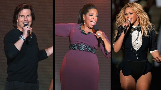 Video: Beyoncé, Madonna, Tom Cruise, and More Stars Throw Oprah a Giant Surprise Goodbye Party!
