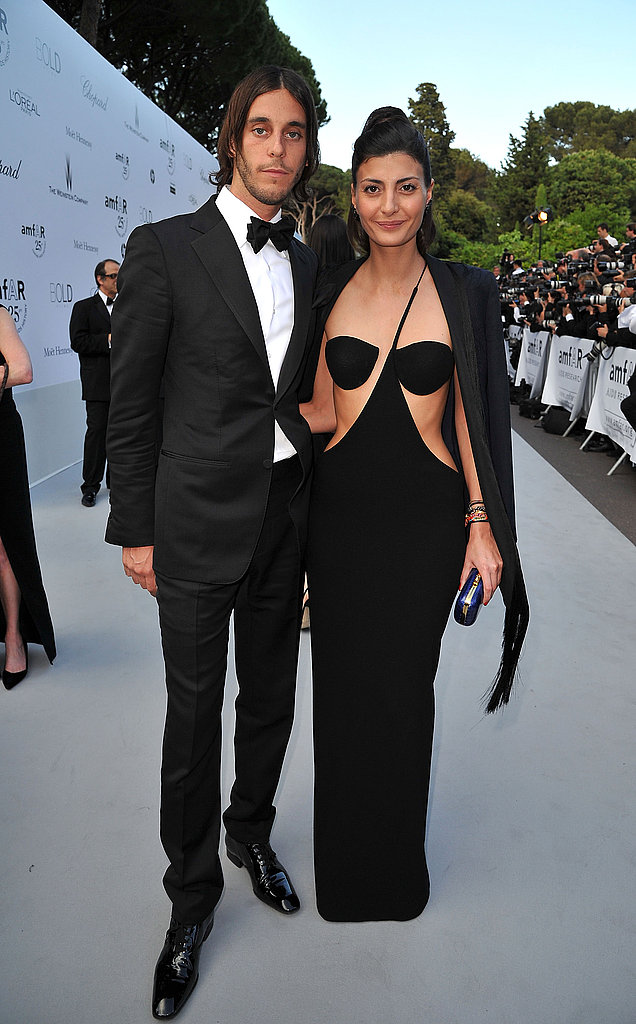 Vladimir Restoin-Roitfeld and Giovanna Battaglia in vintage Stephen Sprouse dress and Emilio Pucci jacket