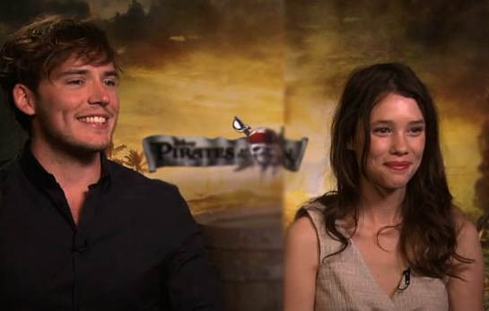 Video: Sam Claflin and Astrid Bergès-Frisbey Talk Pirates and Working With Penelope and Johnny