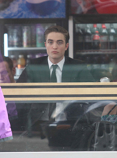 Rob on the set of Cosmopolis in Toronto