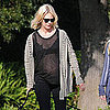 January Jones Showing Her Baby Bump