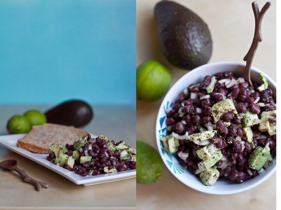 Avocado and Lime Black Bean Salad