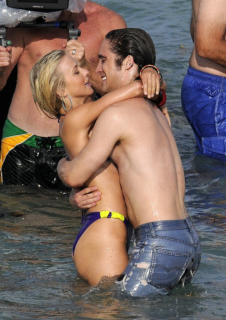 Julianne Hough Rocks a Retro Bikini to Kiss Her Costar in the Water
