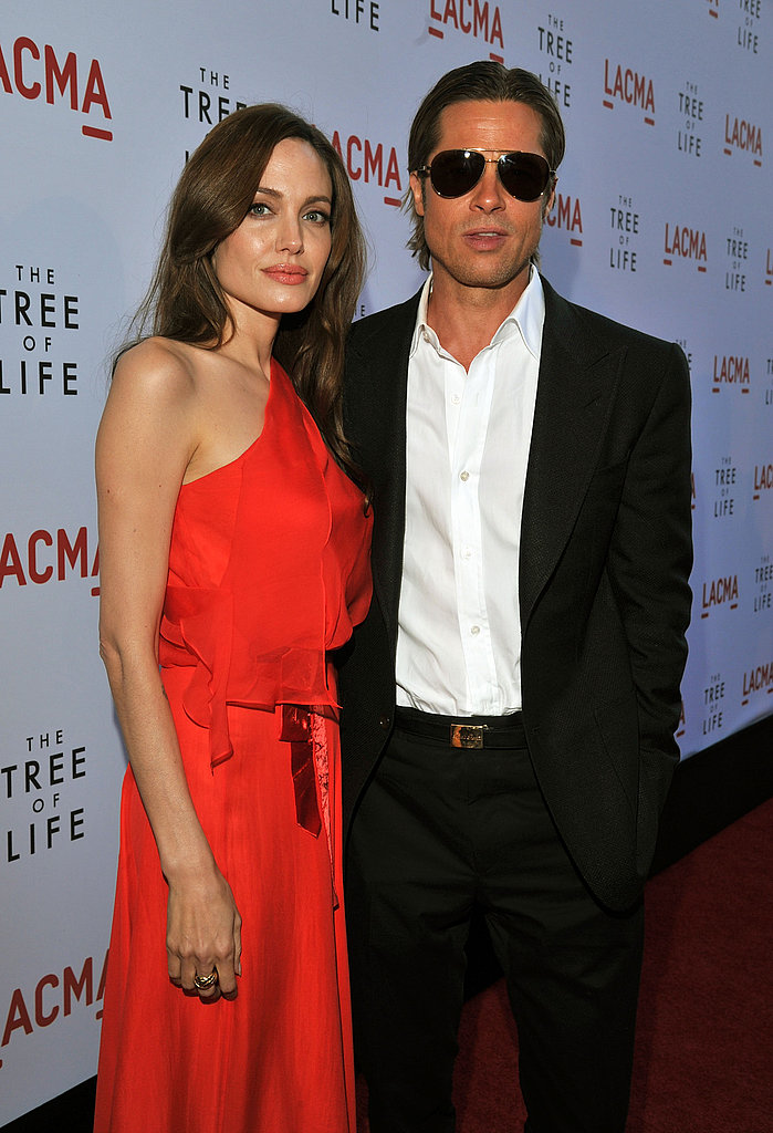 Brad Pitt and Angelina Jolie at The Tree of Life Premiere