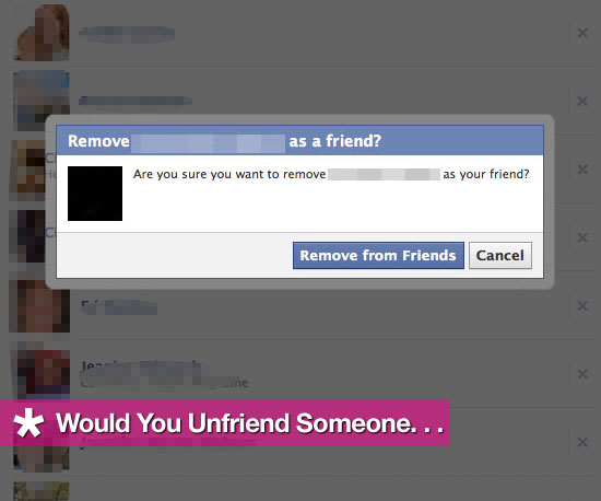 Would You Unfriend Someone . . .