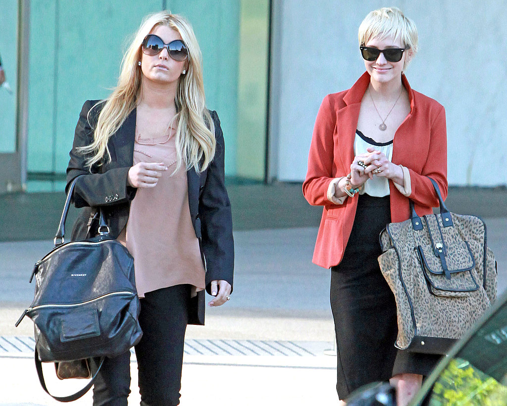 Jessica, Ashlee, and Tina Simpson Have a Girls Day Out in LA