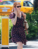 Isla Fisher Goes Floral For a Summer Stroll as The Great Gatsby Falls Into Place