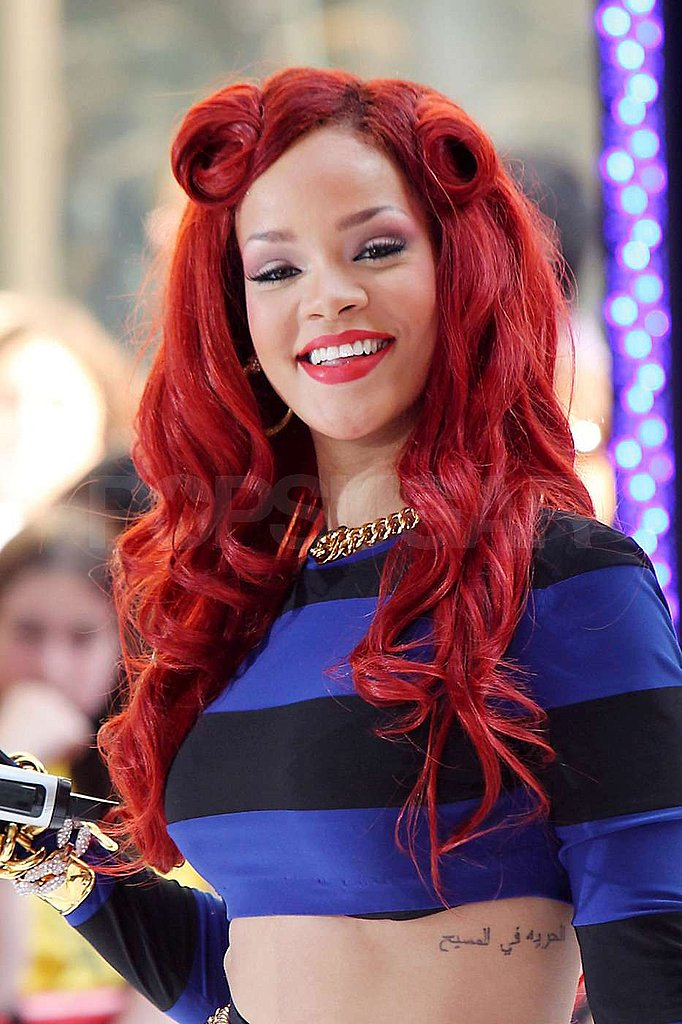 Rihanna Shows a Flash of Midriff in Her Sexy Sailor Outfit on The Today Show