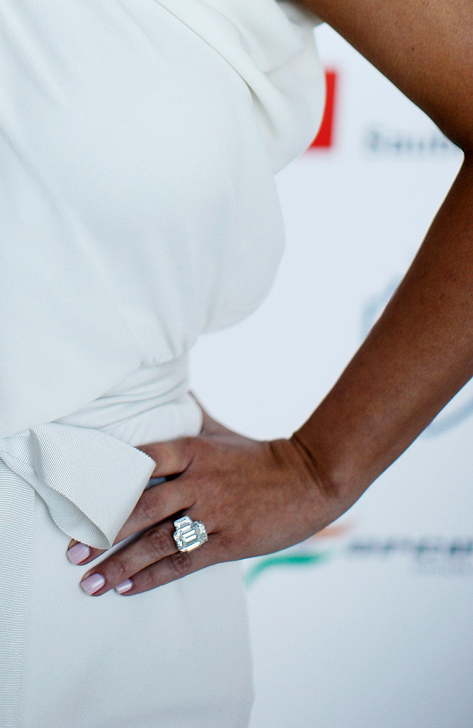 Kim Kardashian Wears White to Show Off Her Huge Ring and Fiancé!