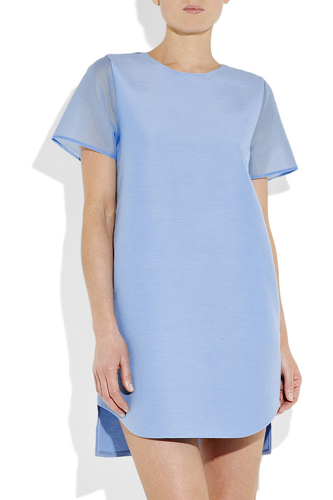 A shift silhouette dipped in a cornflower blue hue. 3.1 Phillip Lim Cutout Silk Dress, $288