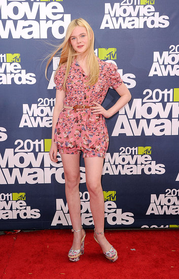 Elle Fanning Goes Bright For the MTV Movie Awards