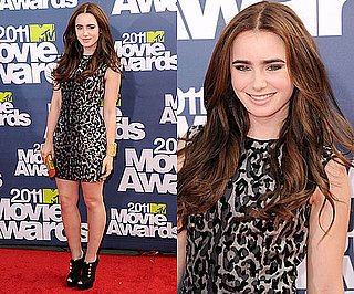 Lily Collins at 2011 MTV Movie Awards