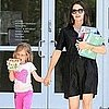 Jennifer Garner and Violet Affleck at the Library Pictures