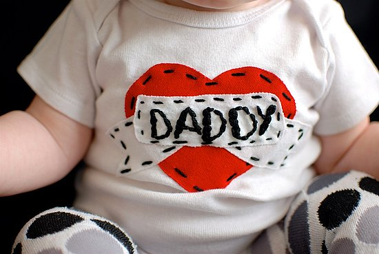 Daddy Heart Tattoo Onesie