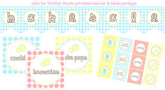 TomKat Studio Lemonade and Bake Sale Signage (FREE)