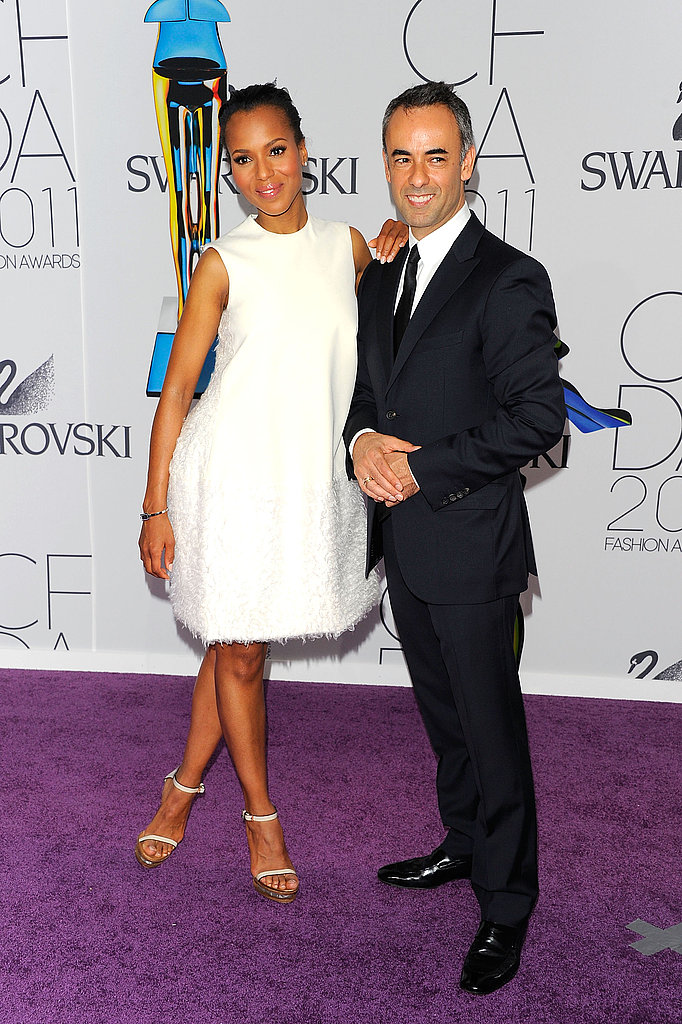 Kerry Washington in Calvin Klein, with Francisco Costa