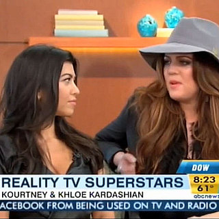 Khloe and Kourtney Kardashian on Good Morning America