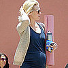 Pregnant January Jones Leaving a Yoga Class in LA