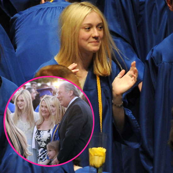 Dakota Fanning Celebrates Her High School Graduation With Kudos From Her Little Sister Elle!