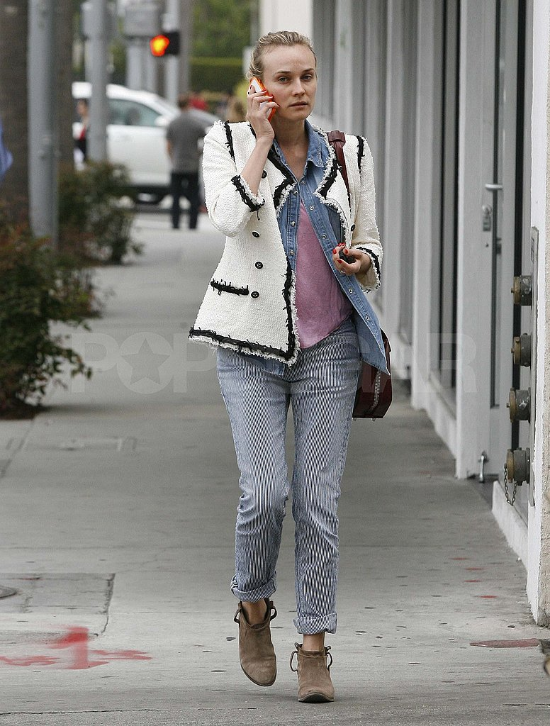 Diane Kruger Steps Out in Her Daily Dose of Chanel