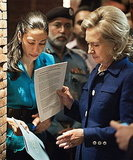 Huma helped Hillary Clinton prepare during a town hall meeting in Pakistan in 2010.
