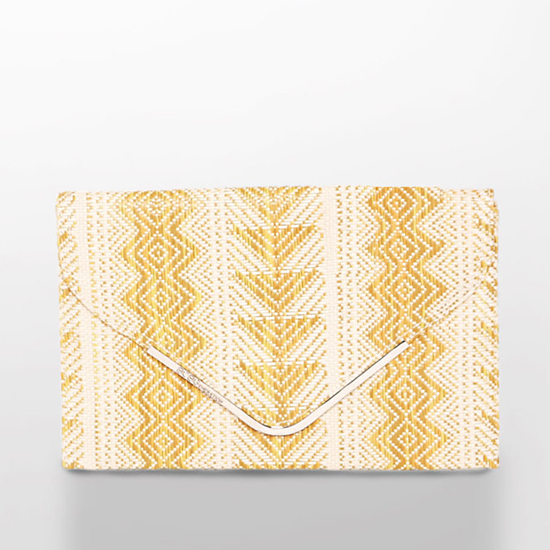 BCBGeneration Aztec Straw Clutch, $78