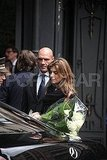 Elisabetta Canalis Has Marriage on the Brain as She and George Clooney Arrive in Milan