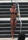Joy Bryant Steps Out at the Eden Roc Hotel in a Camo Bikini