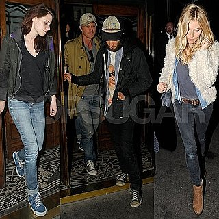 Kristen Stewart Pictures With Tom Sturridge and Sienna Miller in London