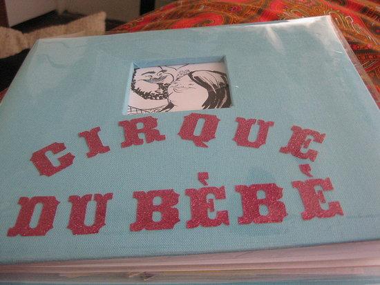 Olivia's Cirque du Bebe scrapbook