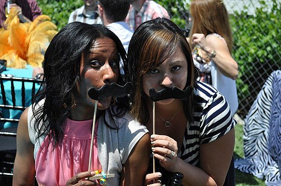 We made the moustaches *such a hit*