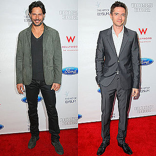 Joe Manganiello and Topher Grace Photos at a Art of Elysium Party