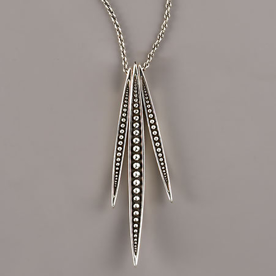 Elizabeth and James Triple-Quill Pendant, $275