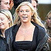 Chelsy Davy Hugging a Friend Outside a Bar in London