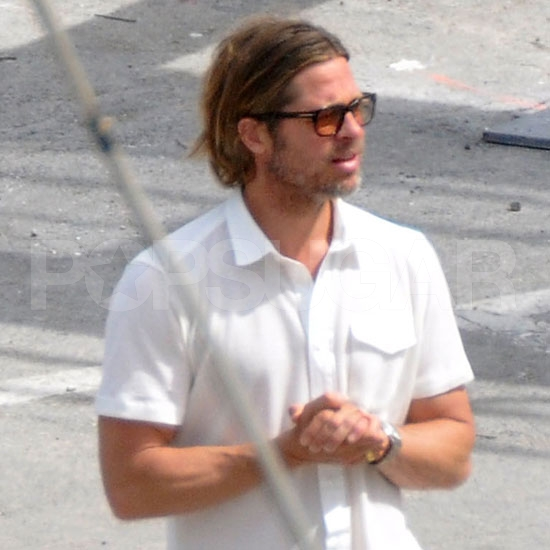 Brad Pitt Brings His Long Locks on a Scouting Vacation in Malta!