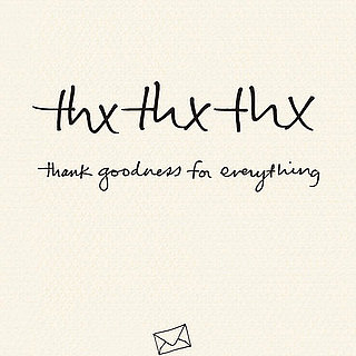Excerpt of ThxThxThx Book of Thank You Notes by Leah Dieterich