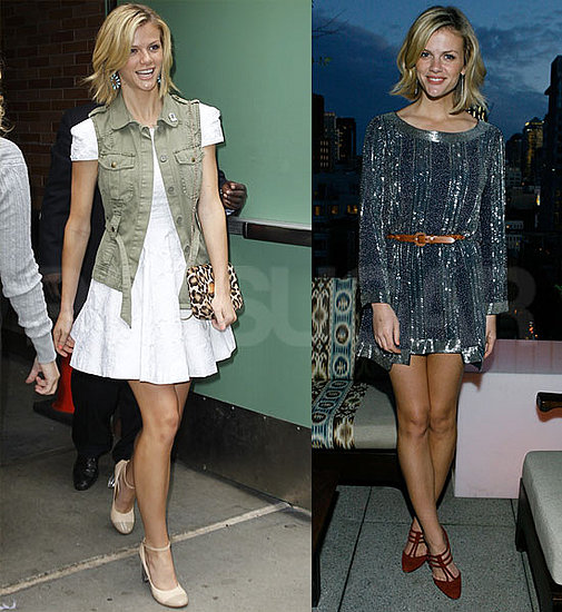 Brooklyn Decker Hits a Stylish Soirée and Visits With Regis and Kelly