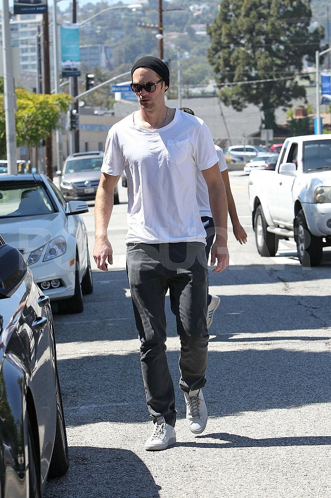 Alexander Skarsgård Stops For Coffee as True Blood Readies For a Return