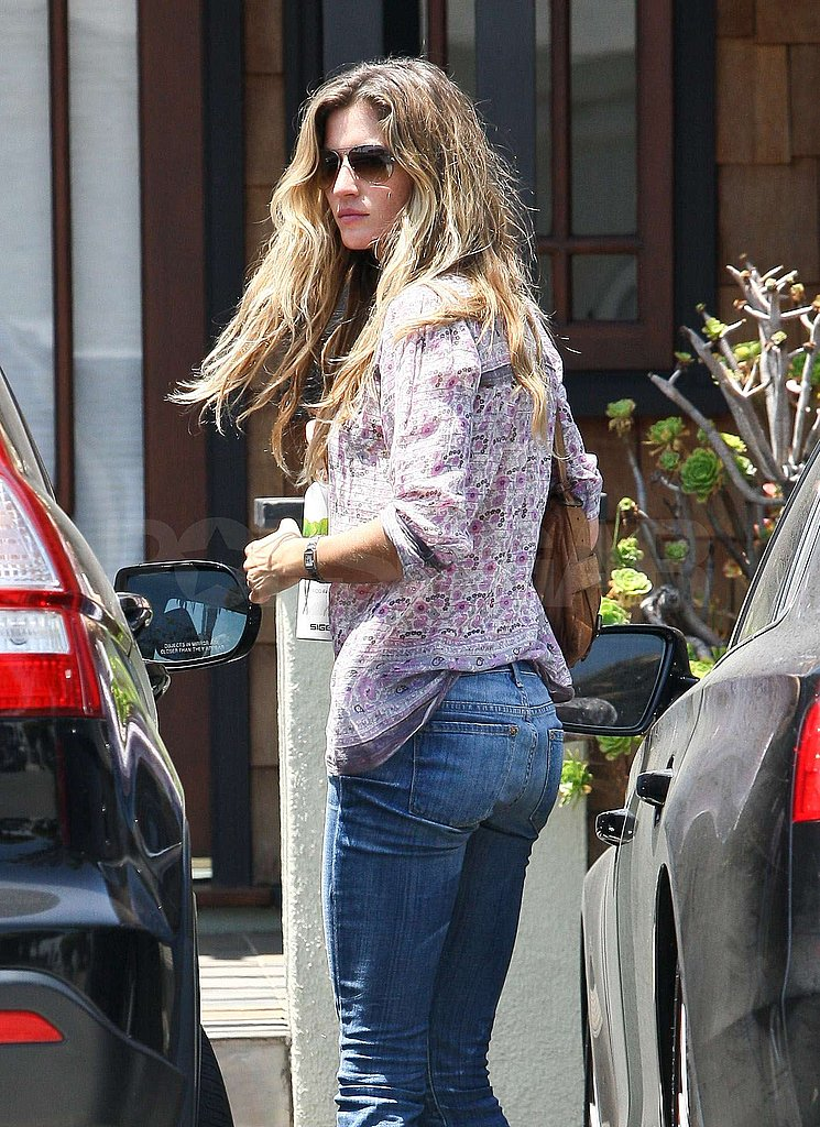 Gisele Hangs Close to Home While Tom Tries His Hand at Spokesmodeling