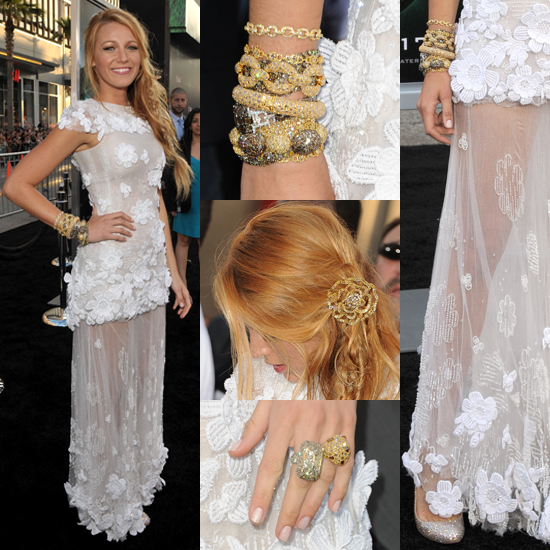 Check out the Blake Lively's gorgeous premiere look.