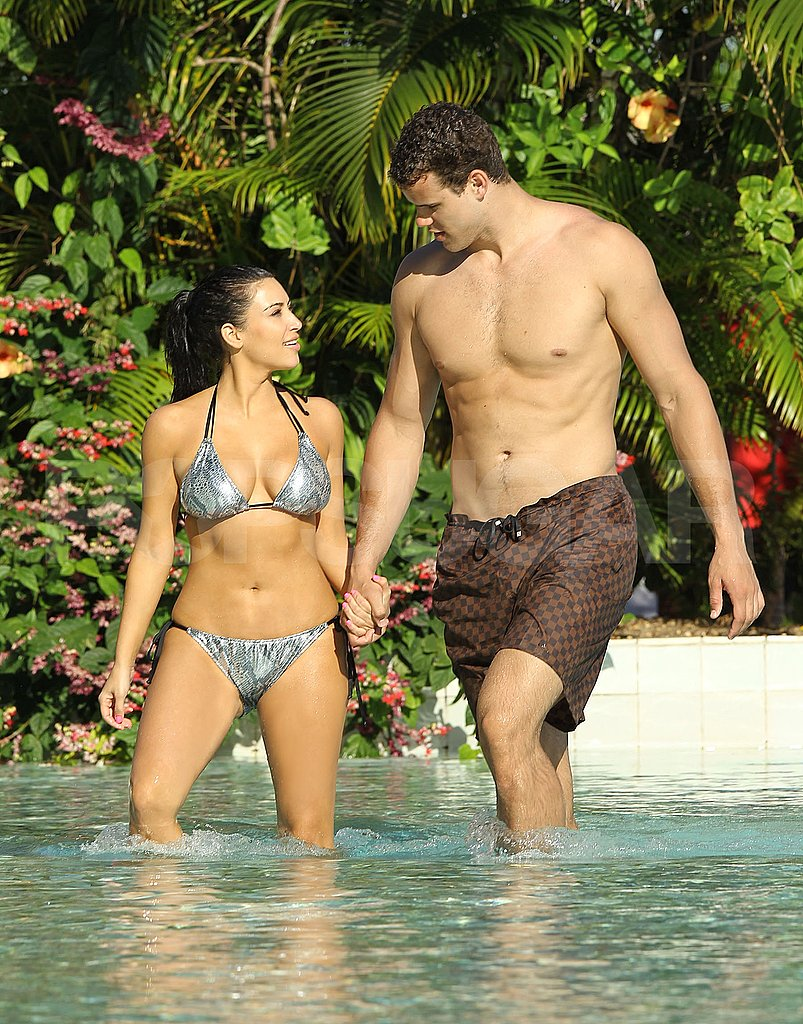 Kim Kardashian Breaks Out Her Bikini in Bora Bora With Her Fiancé Kris Humphries