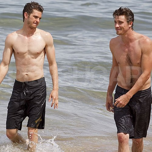 Andrew Garfield and Garrett Hedlund Shirtless Pictures in Hawaii
