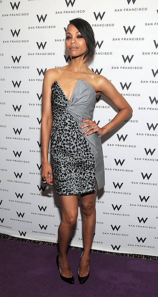 For the San Francisco Film Festival in April 2011, the star wore a sculptured Salvatore Ferragamo dress.