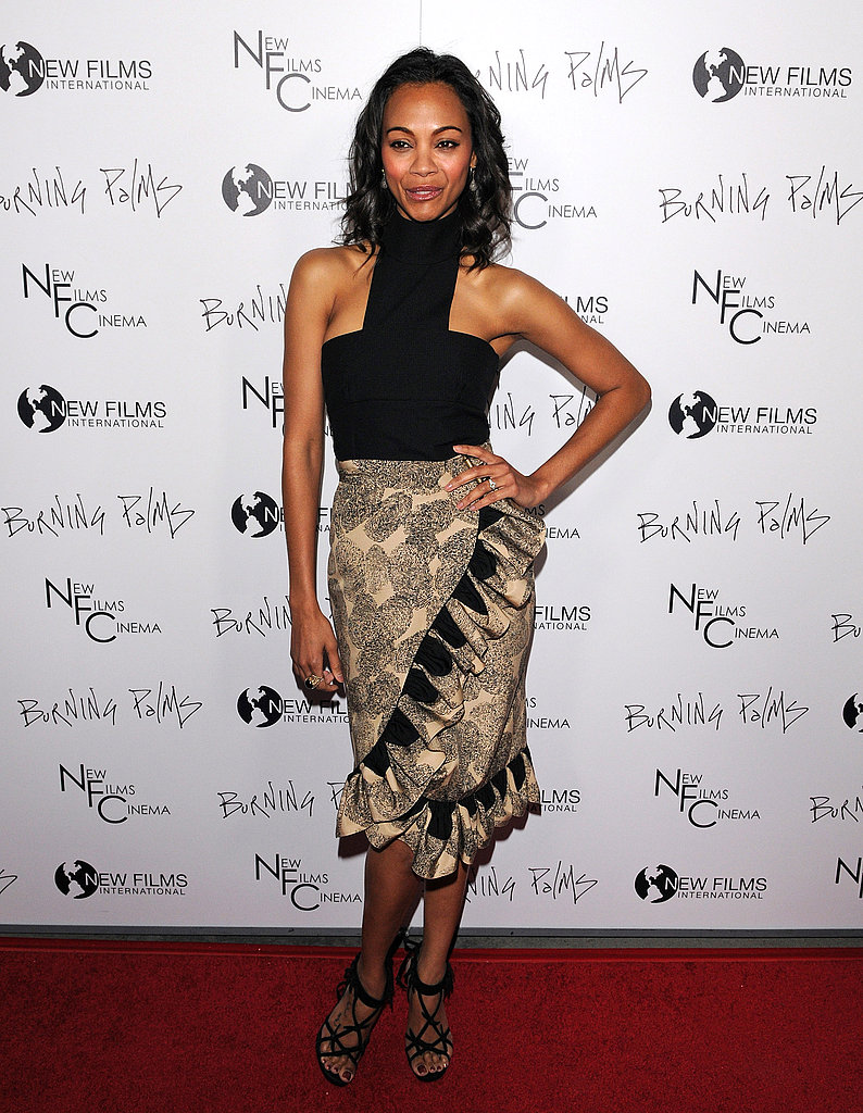 For the premiere of Burning Palms in January 2011, Zoe went tribal in a Yves Saint Laurent skirt and top.
