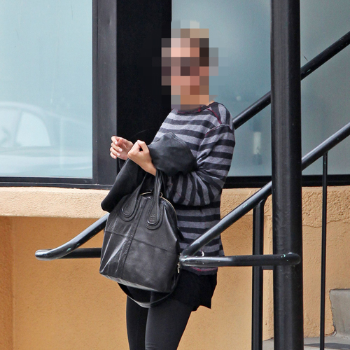 Picture of Celebrity Leaving the Tracy Anderson Method Studio